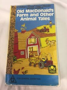 Golden-Book-Video-Classic-Richard-Scarry-039-s-Old-MacDonald-039-s-Farm-VHS-tape