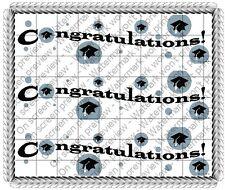 Graduation ~ Edible Cake Topper ~ 1/4 Sheet Designer Strips!!! ~ D609