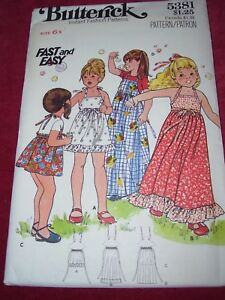 ea22dd577b24 Image is loading 1979-UNCIRCULATED-BUTTERICK-5381-GIRLS-SUMMER-HALTER-DRESS-