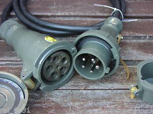 adapterkabel starkstrom 220 380 v 32 16 a 230 400 volt dose stecker bundeswehr ebay. Black Bedroom Furniture Sets. Home Design Ideas