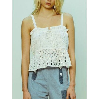 NEW Ruby Lace Top White