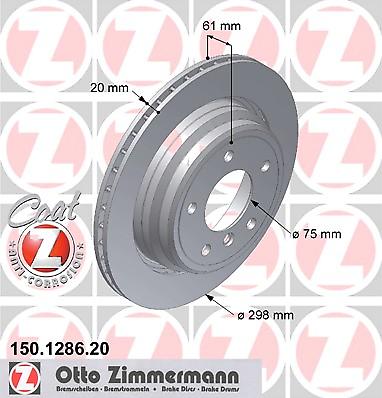 Disco de Freno (2 Piezas) Coat Z - Zimmermann 150.1286.20