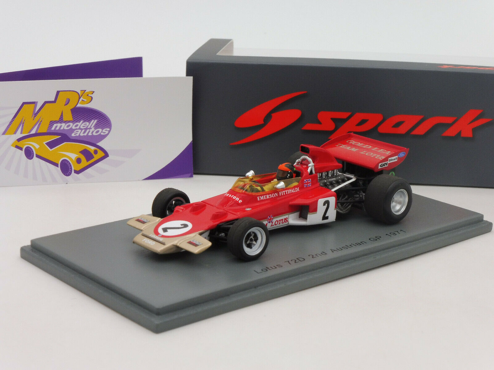 SPARK s7125 # LOTUS 72d n. 28 2nd AUSTRIAN GP 1971