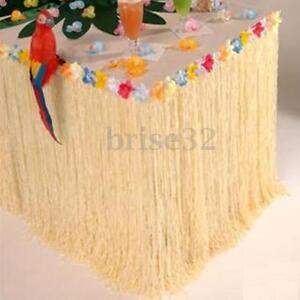 Hawaiian-Luau-Colorful-Flower-Grass-Garden-Beach-Party-Table-Skirt-Cover-Decor