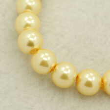 Vintage Ivory Pearl Glass Pearls Beads Bulk Beads 216pcs 4mm Glass Bead
