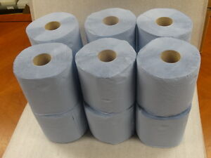 12-x-Workshop-Hand-Towels-Rolls-2-Ply-Centre-feed-Rolls-Wipes-Embossed