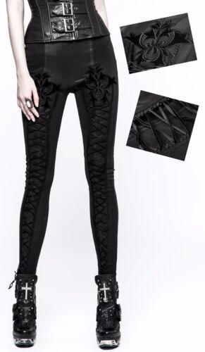 Moda Leggings Pants Ricamo Gothic Baroque Allacciatura Punkrave Lolita Pelle NnwO8kP0X