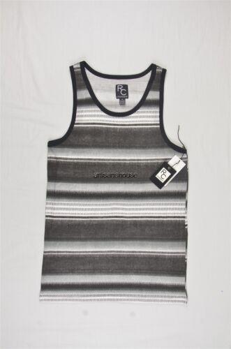 NEW MEN/'S RON CHERESKIN BLACK STRIPED TANKS TEE SZ XXL $18 #35-42463