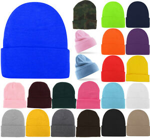 Plain Beanie Hats Winter Cap Slouchy Hat Knit Winter Custom Men ... 71582481c910