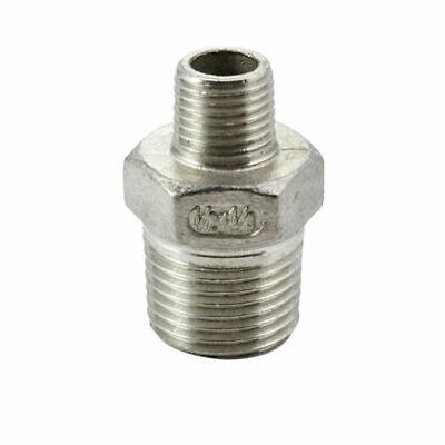 """3//4/"""" x 3//8/"""" BSP REDUCING NIPPLE 316 STAINLESS STEEL 20mm x 10mm"""