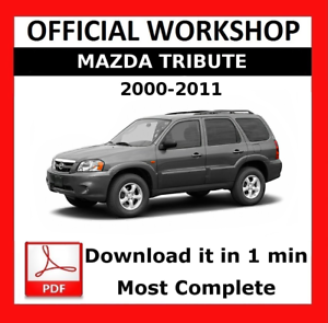 official workshop manual service repair mazda tribute 2000 2011 rh ebay co uk owners manual mazda tribute 2008 owners manual mazda tribute 2005