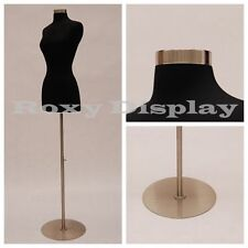 Female Mannequin Dress Form+Metal Round Base Size 2-4 #JF-FWPB-4+ BS-04
