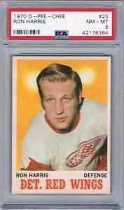 1970-71-O-PEE-CHEE-RON-HARRIS-JUST15BETTER-PSA-8-DETROIT-RED-WINGS-23