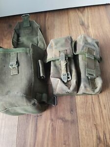 2 ITEMS OF BRITISH ARMY 58 PATTERN WEBBING POUCH & AMMO POUCH