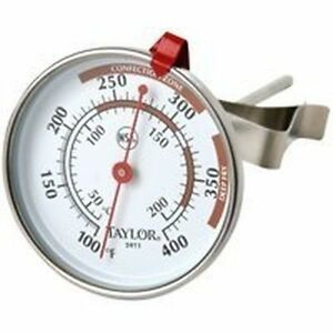 NEW-TAYLOR-5911N-CLASSIC-DEEP-FRY-STAINLESS-THERMOMETER-EASY-READ-ADJUSTABLE