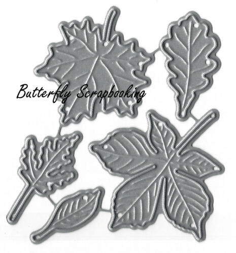 SMALL Fall Leaf Set American Made Steel Dies Impression Obsession DIE095-D New