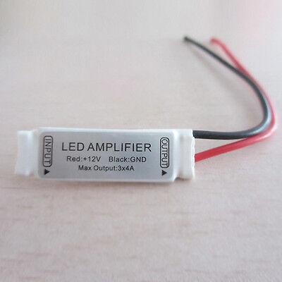 Mini White 12V12A Signal Amplifier For RGB SMD 5050/3528 LED Strip Lights