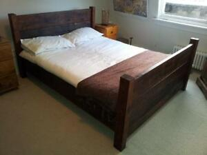 Handmade Chunky Plank Reclaimed Rustic Super King Size Bed Frame