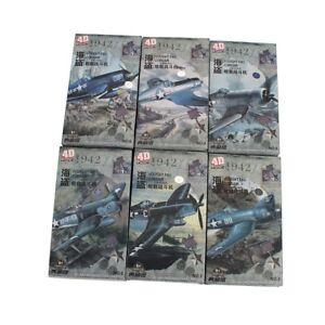 4D-Model-1-48-VOUGHT-F4U-CORSAIR-6pcs-Fighter-Models-Military-Assemble-Kit
