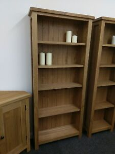 Baysdale Rustic Oak Large Wide Bookcase Tall Shelving Unit 170cm