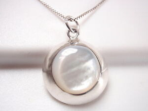 Mother-of-Pearl-925-Sterling-Silver-Round-Bordered-Pendant-Corona-Sun-Jewelry