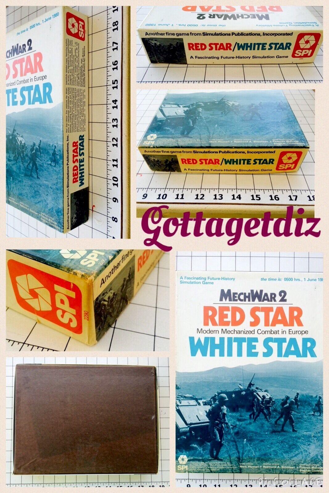 Vintage MechWar 2 ROT Star/Weiß Star  SPI SPI SPI  Simulation Combat Board Game  1979 7cdacf