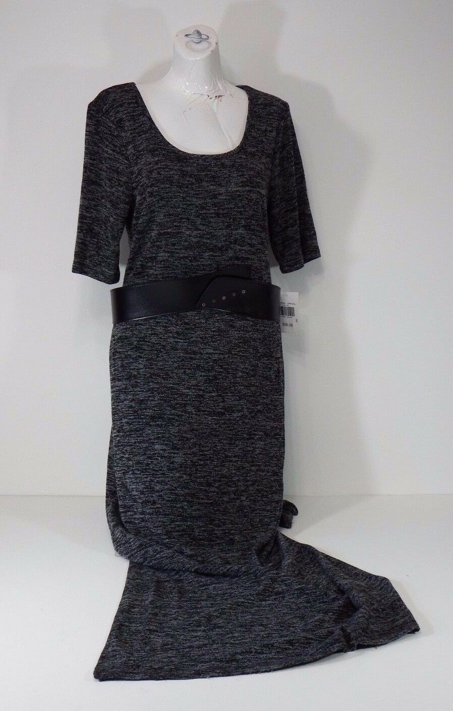 Dress connected apparel full length dress 3 4 sleeves size size size 6 charcoal with belt a8bf44