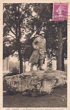 PARIS 165 la statue du président Georges Ckémenceau timbrée