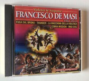CD OST FRANCESCO DE MASI FILM MUSIC VIOLENCE & SUSPENCE FUGA DAL BRONX THUNDER