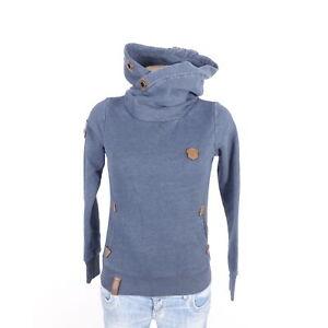 Details zu NAKETANO Pullover Sweatshirt Hoodie Sweater Blau Navy Gr. XS 34