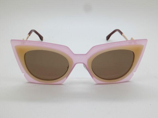 15aad894ea42 Fendi FF 0117 s Laqut Orchidea Pink peach Cat-eye 49mm Sunglasses ...