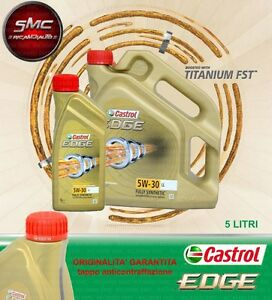 5 litri olio castrol edge fst 5w30 tagliando. Black Bedroom Furniture Sets. Home Design Ideas