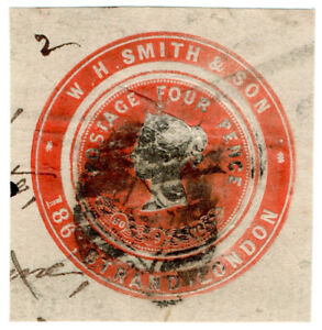 I-B-QV-Postal-Newspaper-Wrapper-WH-Smith-amp-Son-4d-Advertising-Ring