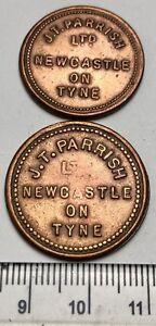 x2 Different J.T. PARISH, NEWCASTLE ON TYNE Market Tokens (A724)