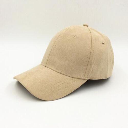 Men Women Unisex Adjustable Suede Baseball Cap Snapback Visor Sport Sun Hat