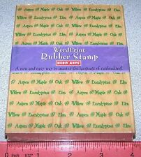 Hero Arts Stamp Names of Trees Word Print Oak Aspen Elm Maple Eucalyptus New