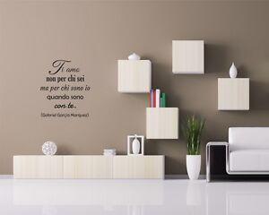 Adesivo murale ti amo non per chi sei wall stickers for Mattonelle adesive da parete