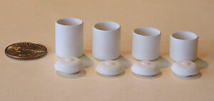 One-034-Canister-set-of-4-with-lids-034-unpainted-bisque-dollhouse-miniature-sized