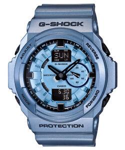 db3f421f762 Casio G-Shock GA-150A-2A Metallic Blue Original Mens Watch 200M ...