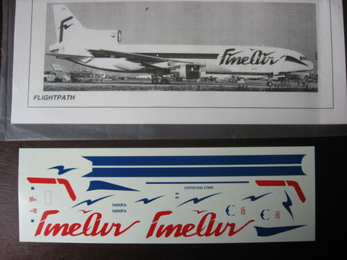 1//144 DECALS FINE AIR L1011 DEDICATED FREIGHTER  DECALCOMANIE