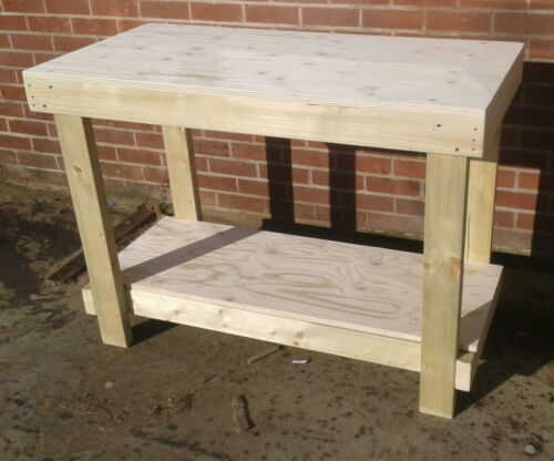 WORKBENCH  4ft STURDY 18MM THICK PLYWOOD TOP WORKBENCH