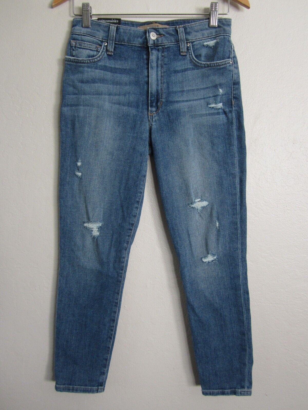 Paige High Rise Crop Distressed Jeans Fatima 26 x 26 NWT