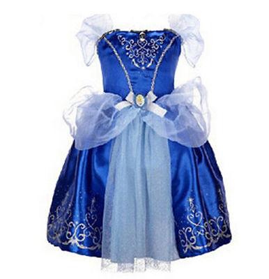 Girls Princess Dress Aurora Snow White Rapunzel Party Fancy Xmas Gift Dress New#