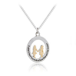 Family sisters heart is a circle that cant be broken pendant chain family sister 039 s heart is a circle aloadofball Choice Image