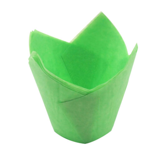 50Pcs Colorful Tulip Muffin Wraps Case Cupcake Baking Cup Cake Wrappers Liners