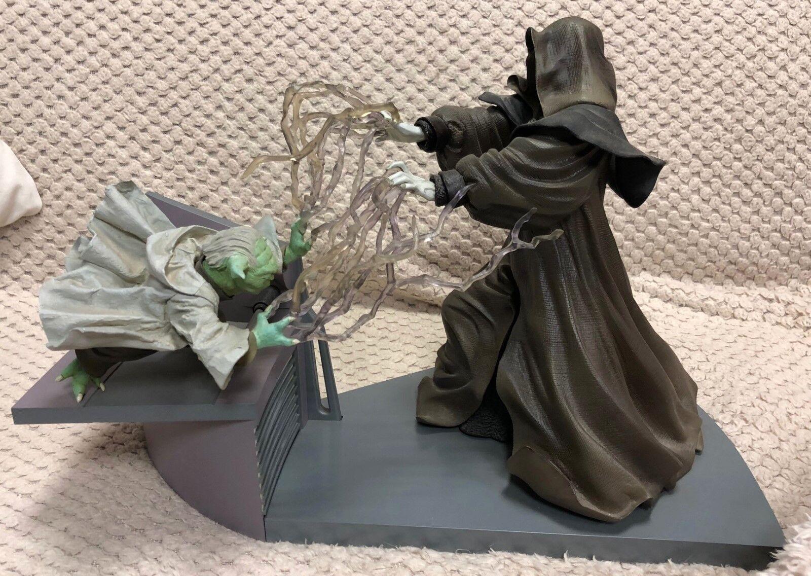 1 7 Star Wars Episode III Yoda versus Palpatine figures by Kotobukiya KSW-31