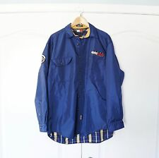 Tommy Hilfiger Vintage Button Down Blue Windbreaker Shirt Jacket Size Medium M