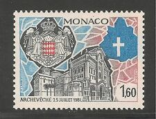 Monaco #1338 (A388) VF MINT NH - 1982 1.60fr Monaco Cathedral, Arms Pope John II