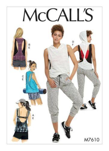 McCalls motivi di sezione m7610-Top-Sport Shirt-Lagenlook-Pantaloni