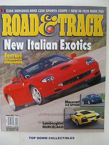 Pay Roadandtrack Com >> Road And Track Magazine January 2002 New Italian Exotics Ebay